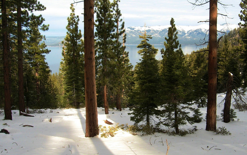 Looking Northwest across Lake Tahoe from Spooner Summit, NV.
