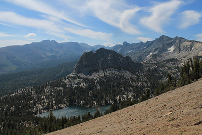 Above Crystal Crag and Crystal Lake
