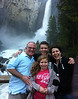 Ben, Ezra, Rachel, and Rebecca at Lower Yosemite Fall