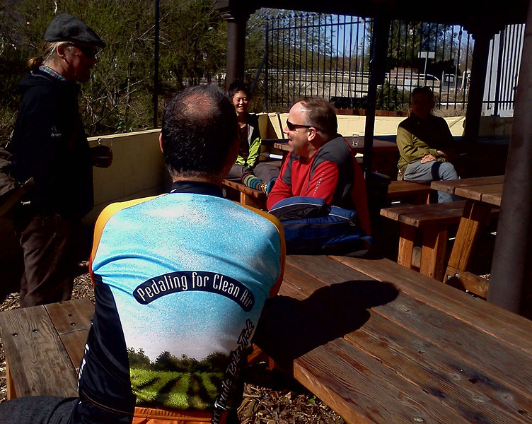 Some of the folks in our party had biked from Pleasant Hill BART to Martinez.   We loved the sunny patio.