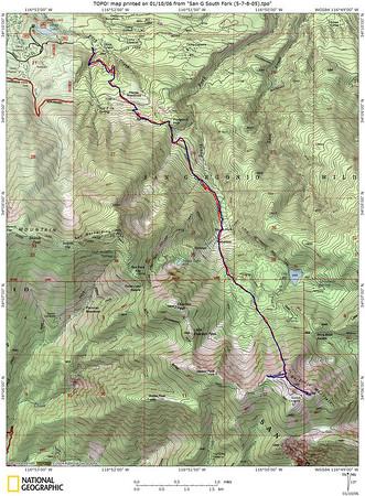 South Fork to San Gorgonio 5-7 -- 5-8-05