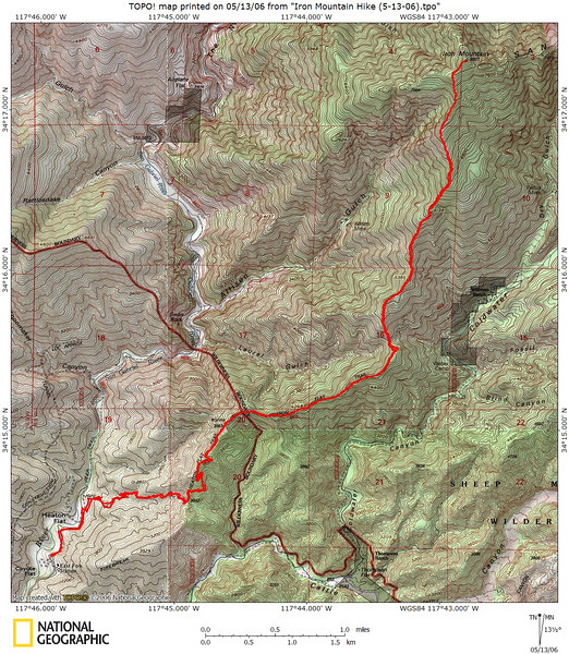 The Heaton Flat - Iron Mountain route is posted here and there, but once more can't hurt.