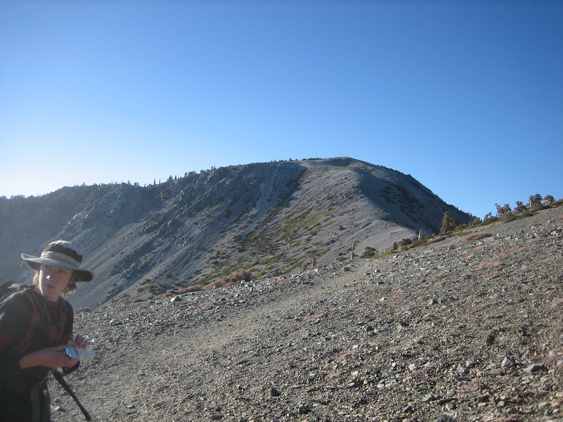 Approaching Mt. Baldy
