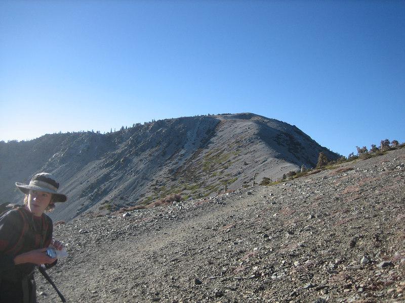 Approaching Mt. Baldy