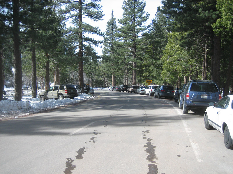 There were plenty of cars at Manker Flat this morning.  I started hiking at 9:40 AM.