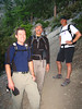 We did our first hike with John Drollinger (in white) who did a lot of the work to organize the event.  Weir, John, and I hiked together on our first trip.  We started at 5:40 AM.  At about 6:00, we met Rick Kent and Richard Piotrowski, who had started at 3:00 and were finishing their first trip.