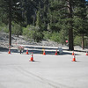 The roads were being prepared for the Tour of California stage tomorrow.