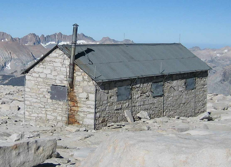 Smithsonian Hut on the summit of Mt. Whitney