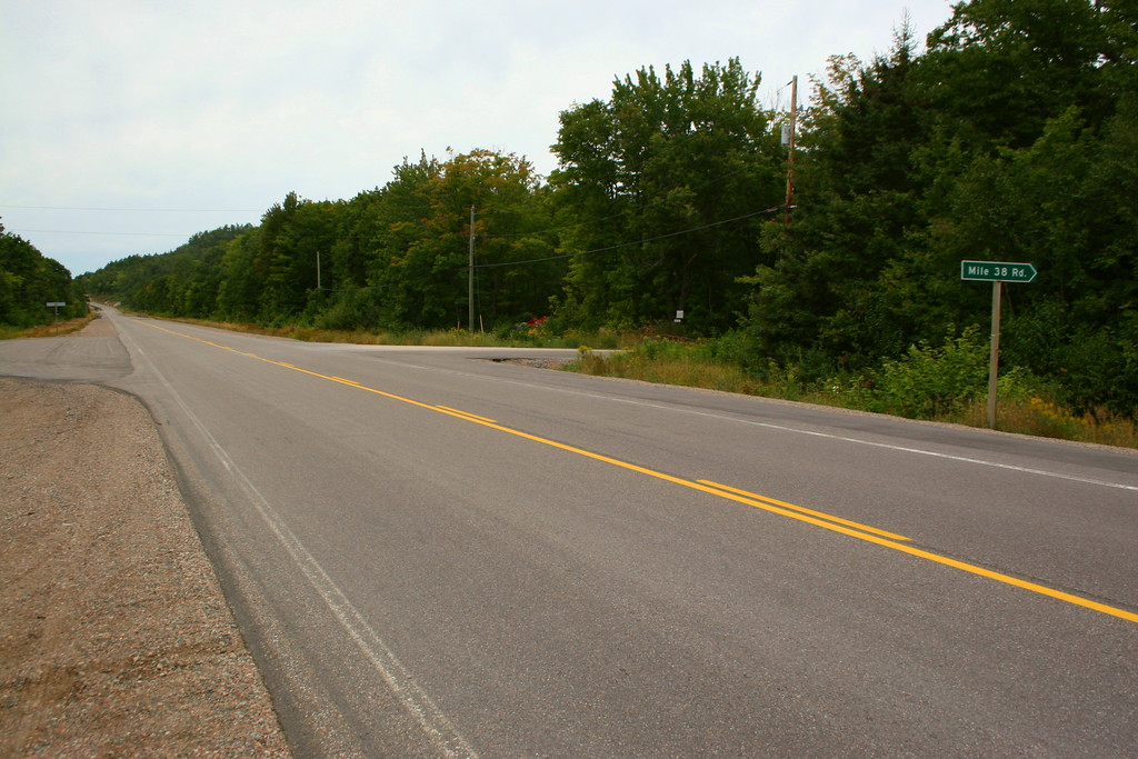 Mile 38 Road was my turn off the Trans Canada.  Its just north of the scenic Chippewa Falls area...