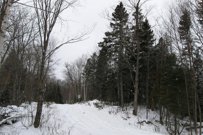 Mile 38 Road Winter 'Trailhead' -- 1,170'