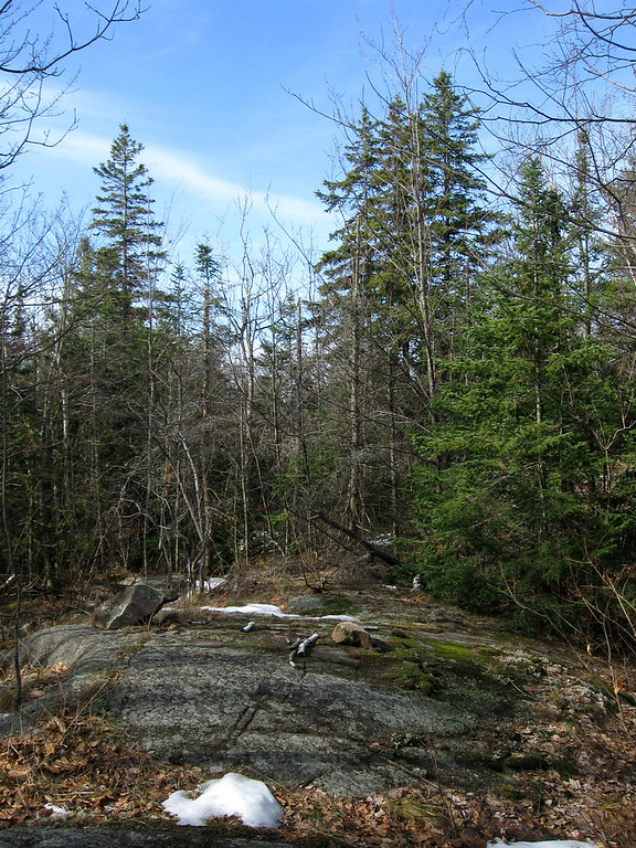 As the trail continued south and west it passed a couple small outcrops like this...