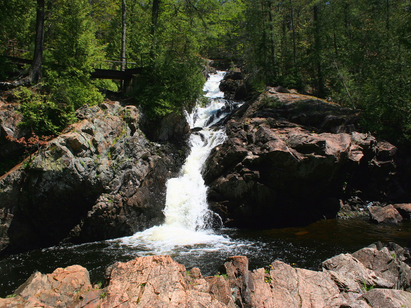 Crystal Falls is a long cascading falls, this is just the lower section...
