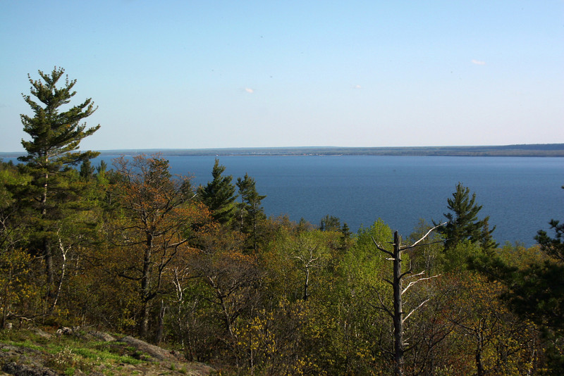 Looking south and east down the St. Mary's River from atop Gros Cap...