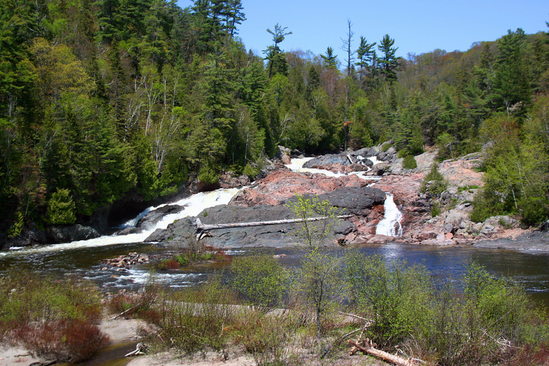 Our next stop was here, at Chippewa Falls, about 45 miles north of the Soo along the Trans-Canada...