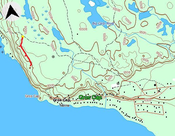Gros Cap Hike Route Map