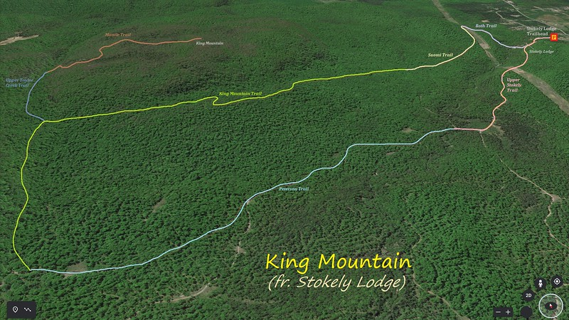 King Mountain Hike Route Map