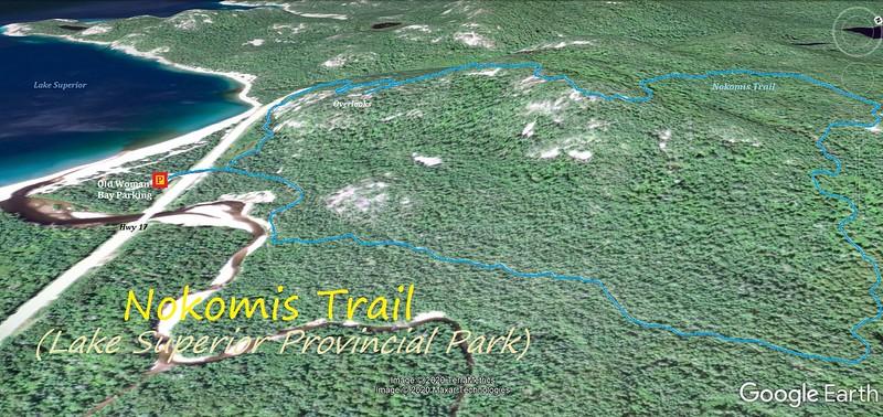 Nokomis Trail Hike Route Map