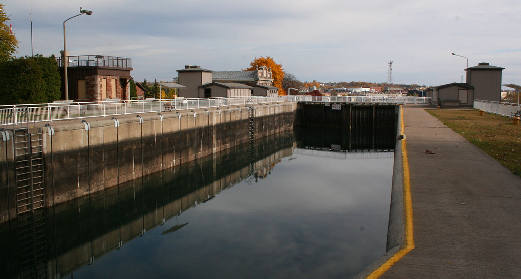 This canal, or lock, was first constructed in 1895 completing a Canadian system of locks connecting Lake Superior to the lower lakes and St. Lawrence Seaway.  Though closed commercially in 1987 it continues to serve pleasure craft sailing between the lakes...