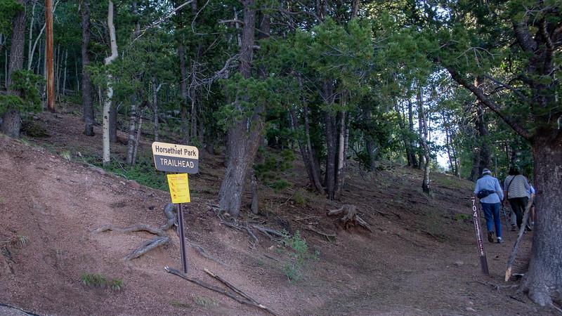 Trailhead marker
