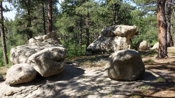 Limestone Boulders Side