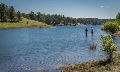 Rainbow Gulch 6-21-17 Fishing - Rampart Reservoir-08519
