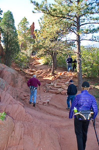 "Our thanks to the Contemplative Trail builders who provided many hiking ""aids"" like this ... a stone staircase."