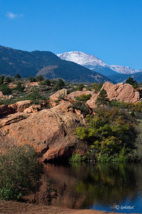 Another view of Bock Lake and Pikes Peak.
