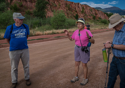 Linda K. Providing an Overview for the Hike