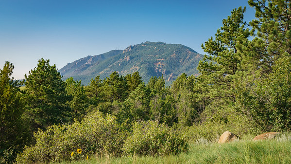 Toward Cheyenne Mountain and Will Roger's Shrine