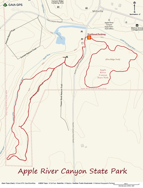 Apple River Canyon Hike Route Map