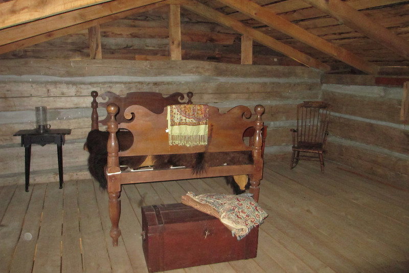 <b>George Rogers Clark Cabin</b> - The upstairs is simply the bedroom and is sparsely decorated...
