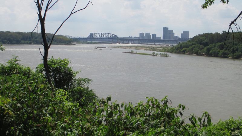 Self-proclaimed as the 'city that George Rogers Clark' founded, the modern city of Louisville is easily seen upriver from the Clark cabin...