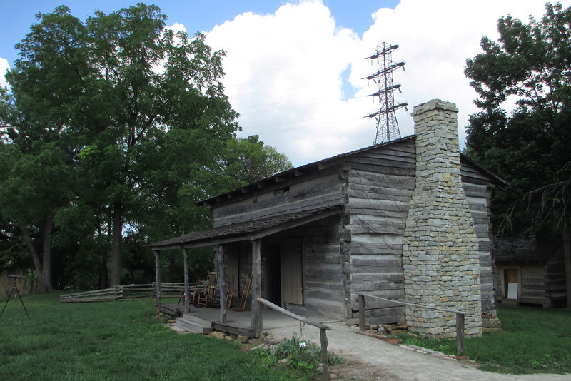 <b>George Rogers Clark Cabin</b> - Though acquiring great fame for his accomplishments during the Revolutionary War, both Clark's wealth, fame, and reputation went into a steady decline in the following years.  Sitting on a high bluff overlooking the lower portion of the Falls of the Ohio, Clark 'retired' here in the late 1700's and called this place home until his death of a stroke in 1818, at aged 65...