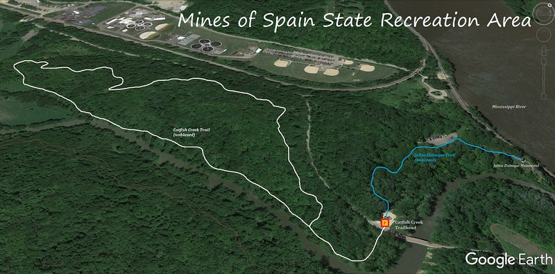 Mines of Spain Hike Route Map