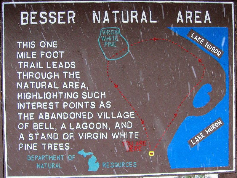 Besser Natural Area Loop Trail Map