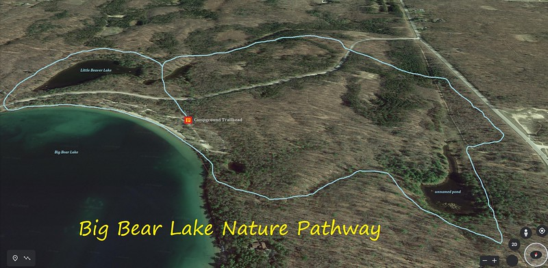 Big Bear Lake Nature Pathway Hike Route Map