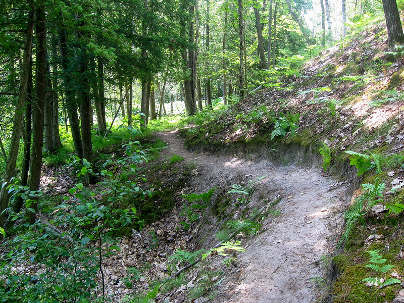 A cool bit of trail cut out of the hillside...