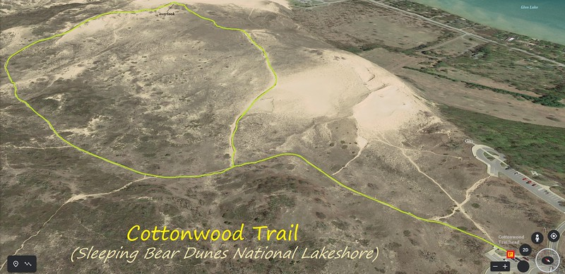 Cottonwood Trail Hike Route Map