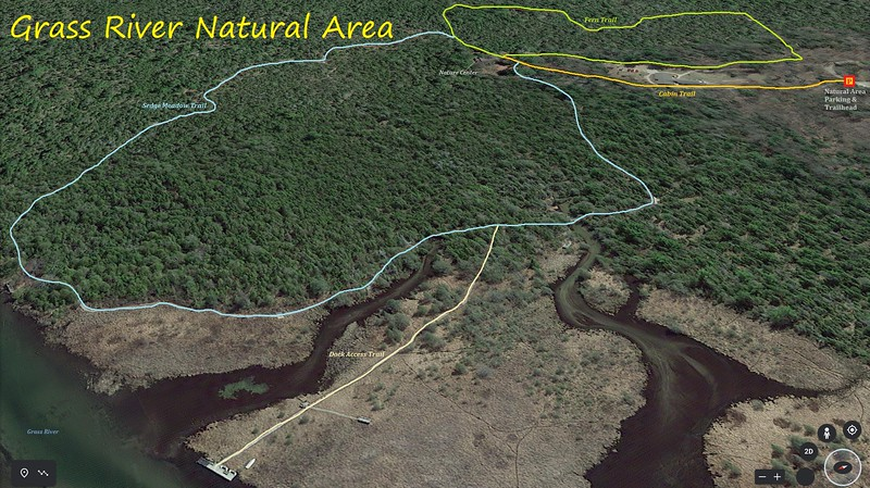 Grass River Natural Area Hike Route Map