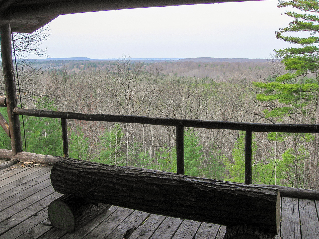 The view from the front porch would no doubt be more stunning on a clearer day...