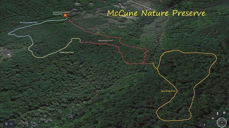 McCune Nature Preserve Hike Route Map