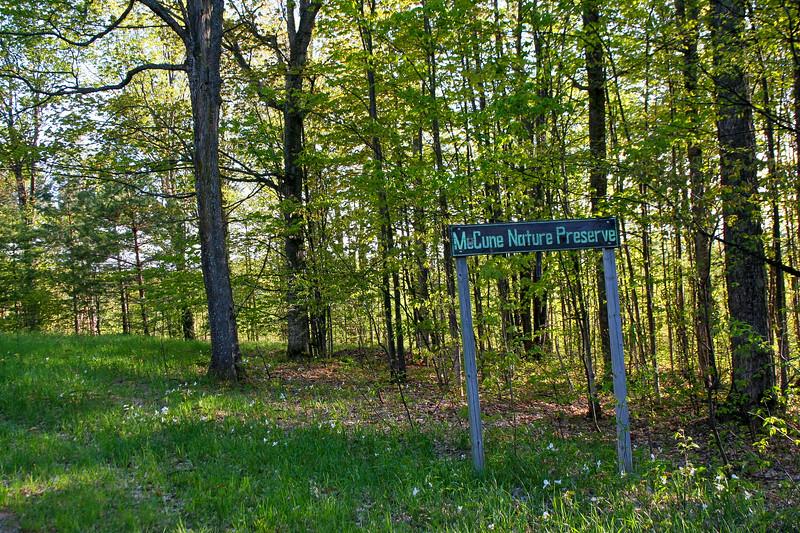 McCune Nature Preserve Entrance