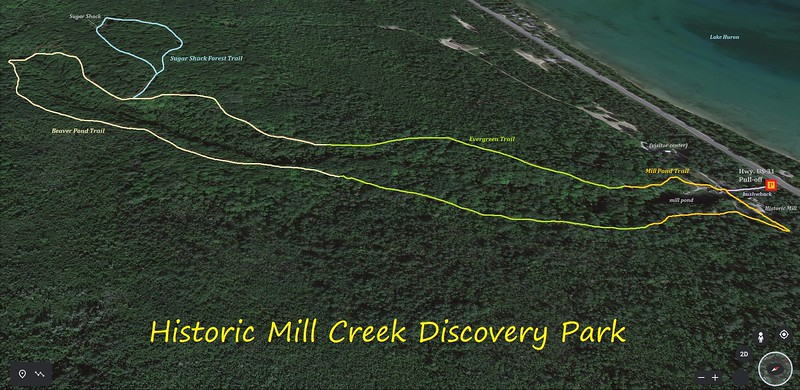 Historic Mill Creek Hike Route Map
