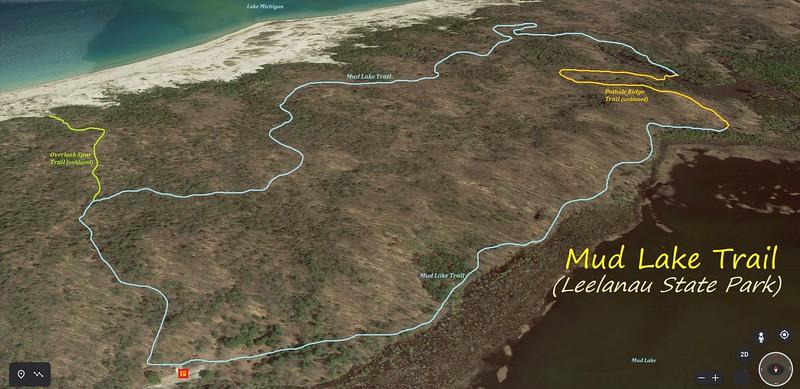 Mud Lake Trail Hike Route Map