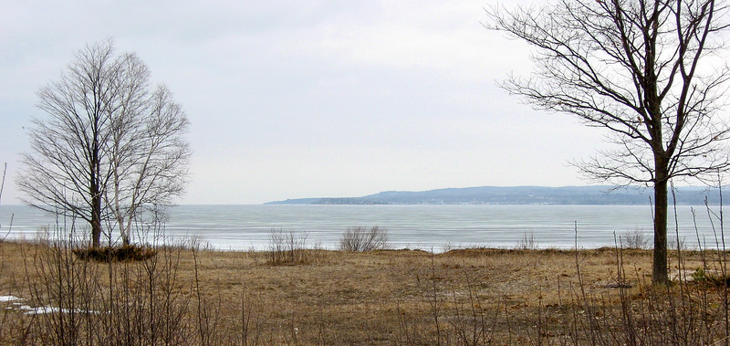 A last look at Little Traverse Bay before heading through the dunes to the north...