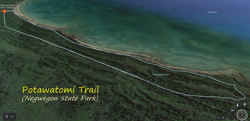 Potawatomi Trail Hike Route Map