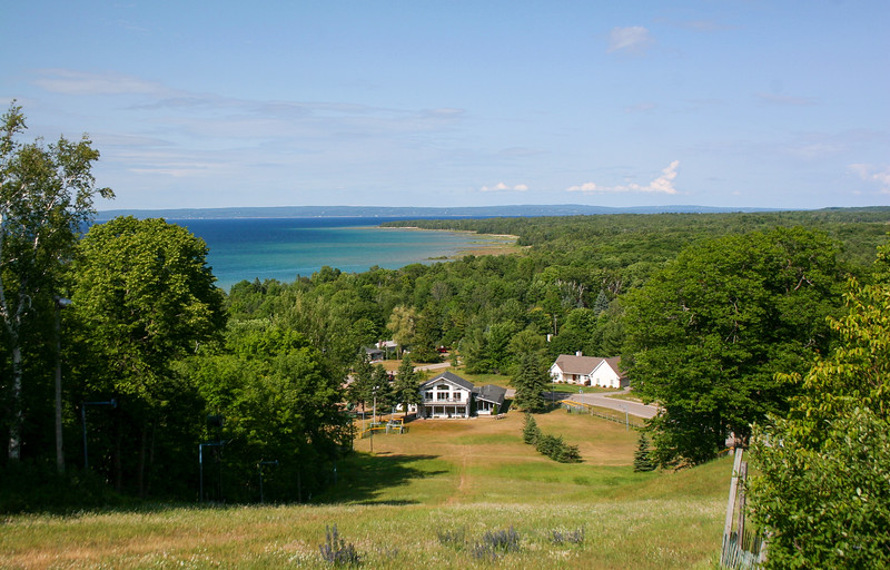 The view at the top of Little Traverse Bay was amazing...