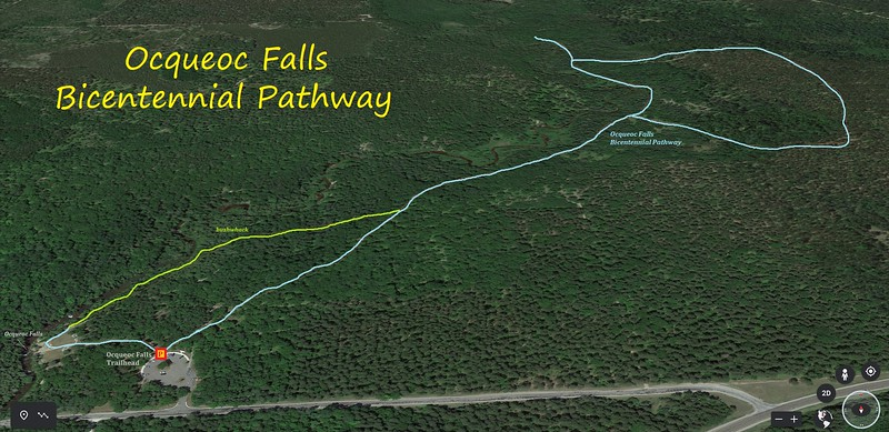 Ocqueoc Falls Bicentennial Pathway Hike Route Map