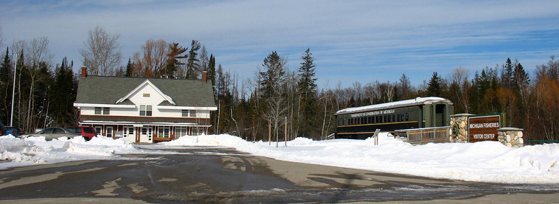 Michigan Fisheries Visitor Center...the entrance as viewed from US-31 north of Petoskey.
