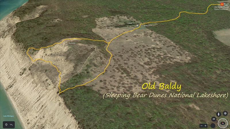 Old Baldy Hike Route Map